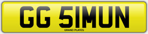 SIMON SI NUMBER PLATE GG51 MUN CHERISHED CAR REGISTRATION NO ADDED FEES SIMONS