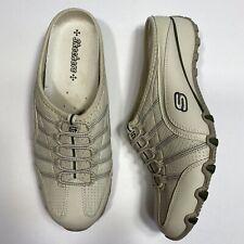 Skechers Womens Shoes Mules Tan Sporty Size 10 Off White/tan