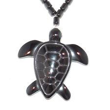 Brand New Black Hematite Turtle Pendant / Necklaces