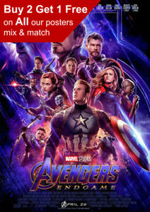 Marvel Avengers Endgame Movie Poster A5 A4 A3 A2 A1