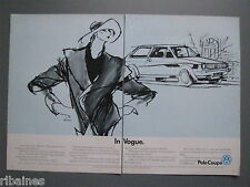 R&L Ex-Mag Advert: 2 Pages, VW Polo Coupe Artist Sketch