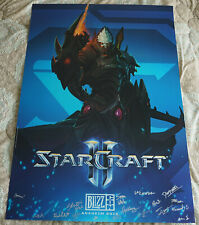 BlizzCon 2015 Official StarCraft II 2 - Legacy of the Void Signed Poster