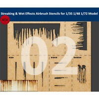LIANG-0002 Streaking &Wet Effects Airbrush Stencil Tool for 1/35 1/48 1/72 Model