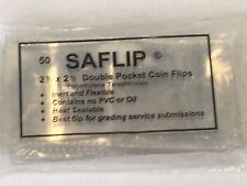 Saflip Double Pocket Coin Flips Sleeves Envelopes Pack of 50