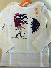 NWT Gymboree Girls Bundled and Bright Long Sleeve Windy Day Glitter Tee Shirt 4