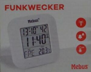 Mebus digitaler Funkwecker mit Datum und Temperaturanzeige 51511