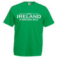 100% Ireland T-shirt - Green Rugby 6 Nations 2017 Six Tournament Final Irish