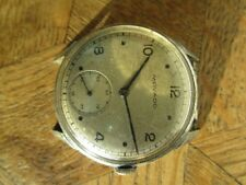 Vintage Chromed MOVADO manual watch. Cal. 125 for parts.