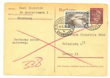 GERMANY 1936 PS CARD ZEPPELIN- 4 RM CHICAGO FAHRT -IS A FAKE -FOR REFERENCE @8