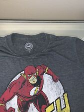 •Dc Marvel - Grey Official Flash T-shirt