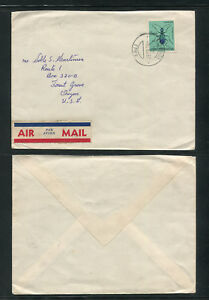 Portuguese Guinea Guine 1962 Cover to USA, INSECTS ANIMALS