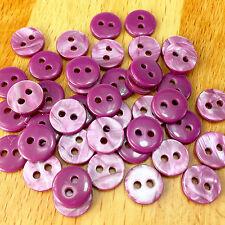 20 Bottoni Camicia color malva 10mm 2 FORI
