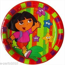 DORA THE EXPLORER Star Catcher LARGE PAPER PLATES (8) ~ Birthday Party Supplies