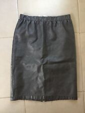 High Waist Faux Leather Knee Length Black Pencil Skirt Size 8 Grunge Style