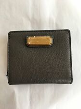 NWT Marc By Marc Jacobs New Q Leather Emi Wallet. Faded Aluminum (Gray)