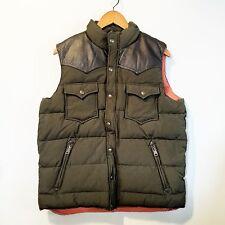 PENFIELD Pelam Down Vest Leather Yoke Lichen Green SZ L NWOT $240