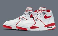 Nike Air Flight 89 LE Shoes University Red White 819665-100 Men's Size 14 NEW