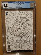 Justice League of America #7 Coloring Book Variant 2016 CGC 9.8 WH NM/MT
