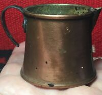 """Small Hand-Crafted Vintage Copper Cup or Pitcher Made in SWEDEN Unique 2"""" tall"""