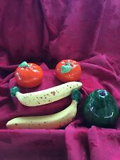 FLAWLESS Exceptional Lot of 5 CERAMIC 2 BANANAS 🍌2 TOMATOES 🍅 1 AVOCADO 🥑