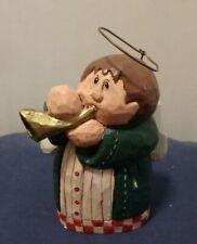 Eddie Walker Trumpet Angel Musical Figurine Christmas, Midwest Of Cannon Falls