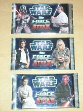 LOT 3 PAQUETS TRADING CARDS STAR WARS TOPPS FORCE ATTAX / CHEWBACCA / NEUF
