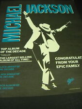 MICHAEL JACKSON Top Album Of The Decade 1990 PROMO POSTER AD mint condition