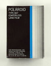 POLAROID TYPE 667 Coaterless Land Film Black & White 2 packs in box / #2642