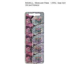 Maxell Hologram SR616SW 321 SR616 Silver Oxide Watch Batteries (30Pcs)
