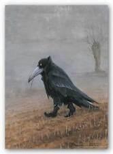 FANTASY ART PRINT Krahe Crow Rudi Hurzlmeier