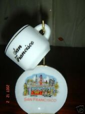 san francisco mini cup and saucer with stand