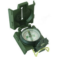 Olive Green Pocket RANGER COMPASS with Red LED - Compact Military Army Hiking