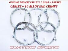 5 x GEAR +  5 X CYCLE MTB BRAKE INNER CABLES + CRIMPS MTB, SHIMANO ETC