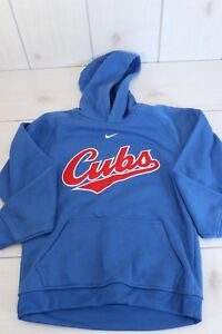 Nike Chicago Cubs MLB Licensed Hoodie Youth Boys Med Hooded Sweatshirt Adult Xs