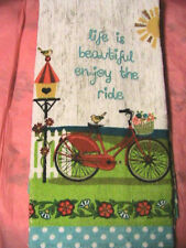 1 ENJOY THE RIDE~KITCHEN~BATH~SHOP~COTTAGE quality HAND TOWEL for craft or use