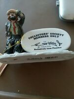 Flambro Emmett Kelly Jr signature Collectors Society Collection Clown 1984 dv65