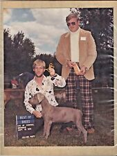 Vintage Weimaraner Dog Show Champion Photographs & Ribbons