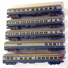 ATLAS Train Vintage Italy Baltimore and Ohio Set of 5 Blue Railway Car N Gauge