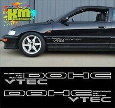 x2 Honda DOHC VTEC Injection Side Stickers - JDM Civic CRX