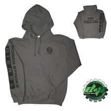 LARGE Gray DPP Ford powerstroke diesel Hoodie hooded sweatshirt long sleeve
