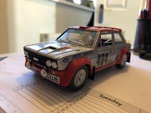 Burago Fiat 131 Mirafiori Abarth Rally Car 1/24 - with a few modifications.