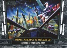 Star Wars 40th Anniversary Base Card #77 Rebel Assault is Released