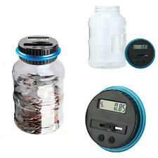 Portable Electronic Digital Coin Counter Automatic Money Counting Jar Save Piggy
