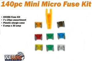 HX086 140 pcs Mini Micro Fuse Kit -  5 amp - 30 amp