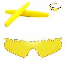 Walleva Yellow Vented Replacement + Yellow Rubber Kit for Oakley M Frame Hybrid