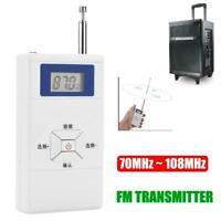Mini Portable Wireless FM Transmitter Stereo Audio Radio Station 70MHz ~ 108MHz