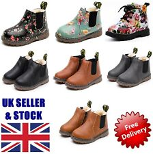 Kids Winter Shoes Fur Lined Snow Boots Boys Girls Toddler Waterproof Warm Shoes
