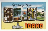 [48324] OLD LARGE LETTER POSTCARD GREETINGS FROM BOISE, IDAHO
