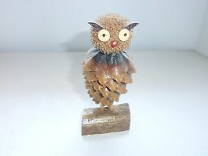 VINTAGE TOY AN OWL FIGURE BIRTH FIGURINE- HANDMADE