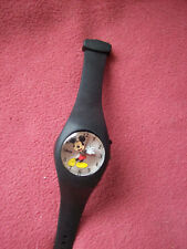 Very Collect New Disney Mickey Mouse Watch Moving Hands, 2 Settings, Black Band